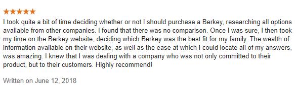 berkey testimonial